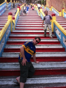 Winded even before the steps. That's what age will do to you!