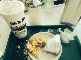 Ever wondered why Cafe du Monde is such a big deal? Because it's sweet, fried dough covered in sugar. Waiting on the franchise opportunities with this one.