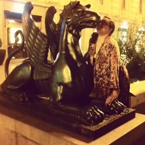 Tbilis--the Griffin that guards the Burberry store.